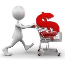 shopping cart money